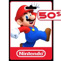 گیفت کارت نینتندو 50 دلاری