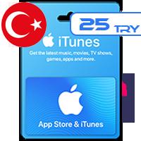 گیفت کارت اپل 25 لیر ترکیه