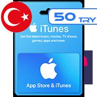 گیفت کارت اپل 50 لیر ترکیه