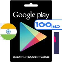 گیفت کارت گوگل پلی هند 100 روپیه