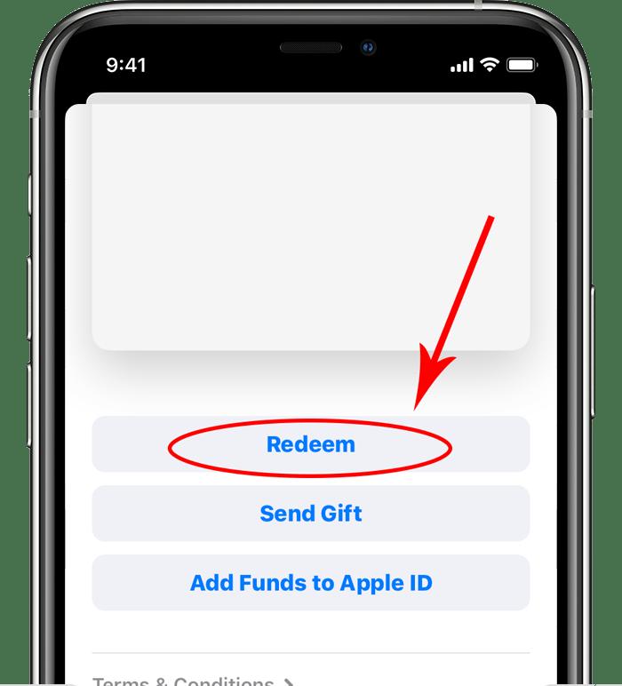 ردیم گیفت کارت اپل iOS کمتر از 11