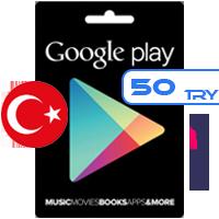 خرید گیفت کارت گوگل پلی 50 لیر ترکیه