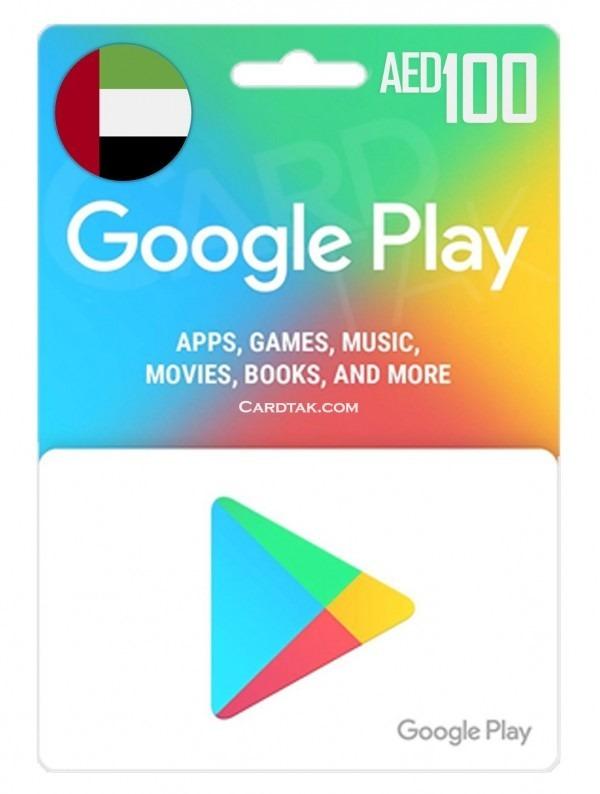 گیفت کارت گوگل پلی 100 درهم امارات