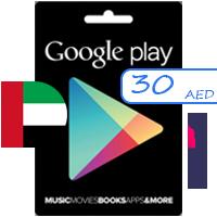 گیفت کارت گوگل پلی امارات 30 درهم