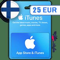 گیفت کارت اپل 25 یورو فلاند