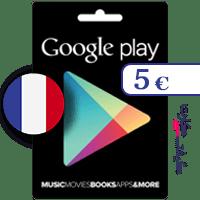 گیفت کارت گوگل پلی 5 یورو فرانسه