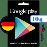گیفت کارت گوگل پلی 10 یورو آلمان