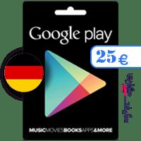 گیفت کارت گوگل پلی 25 یورو آلمان
