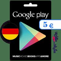 گیفت کارت گوگل پلی 5 یورو آلمان
