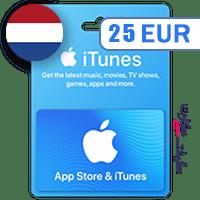 گیفت کارت اپل 25 یورو هلند