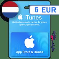 گیفت کارت اپل 5 یورو هلند