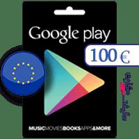 گیفت کارت گوگل پلی 100 یورو اروپا