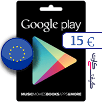 گیفت کارت گوگل پلی 15 یورو اروپا
