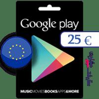 گیفت کارت گوگل پلی 25 یورو اروپا