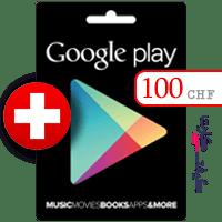 گیفت کارت گوگل پلی 100 فرانک سوئیس