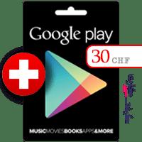 گیفت کارت گوگل پلی 30 فرانک سوئیس