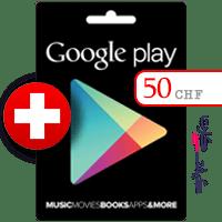 گیفت کارت گوگل پلی 50 فرانک سوئیس