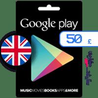گیفت کارت گوگل پلی 50 پوند انگلیس
