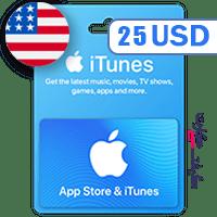 گیفت کارت اپل 25 دلار آمریکا