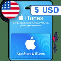 گیفت کارت اپل 5 دلار آمریکا