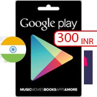 گیفت کارت گوگل پلی هند 300 روپیه