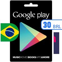 گیفت کارت گوگل پلی برزیل 30 رئال