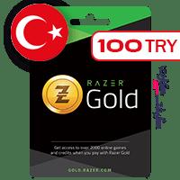 گیفت کارت ریزر گلد ترکیه 100 لیر