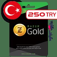 گیفت کارت ریزر گلد ترکیه 250 لیر
