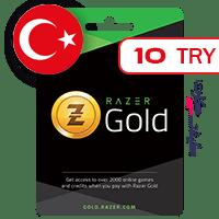 گیفت کارت گلد ریزر 10 لیر ترکیه